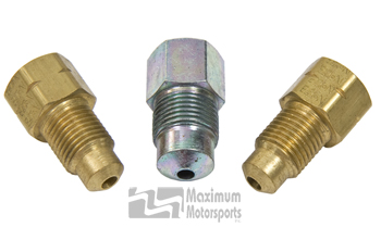 Brake adapter fittings, 1987-93 master cylinder