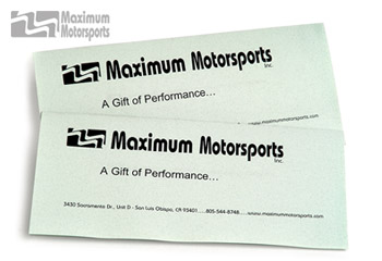 MM Gift Certificate, $25