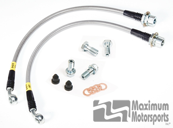 MM Stainless Brake Hose Kit, 1994-04 Mustang, front
