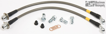 MM Stainless Brake Hose Kit, 1979-93 Mustang with SN95 calipers, front