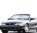 1994-04 Mustang Convertible Low Slung Door Bar Installation Photos