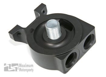 Remote Filter Mount, Anodized Billet Aluminum, Straight Port