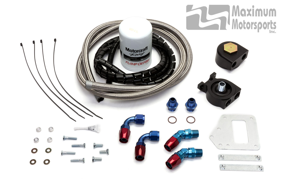 Oil Filter Relocation Kit, 2003-2004 Mustang Cobra