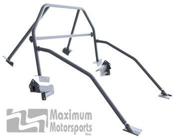Street Strip 6-point Mustang Roll Bar, E-Z-Remove door bars, removable harness mount, 2005-2014 hardtop