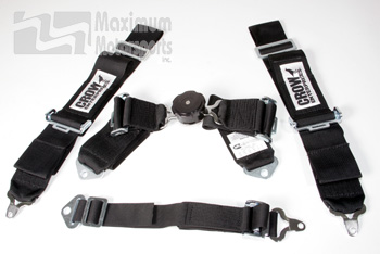 Crow 5-point Seat Belt Set, bolt-in, fits one seat