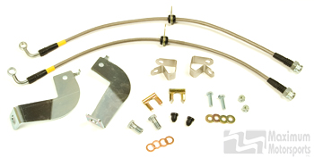 MM Stainless Brake Hose Kit, 1999-04 IRS Cobra, rear