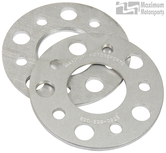 "1/4"" thick wheel spacers, 5-Lug, pair, 1979-2014 Mustang"